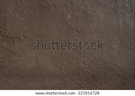 brown painted cracked wall - stock photo