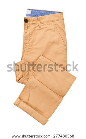 brown pant isolated - stock photo