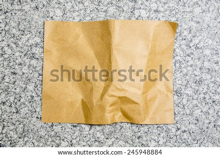 brown paper. - stock photo
