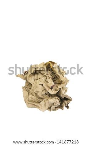 Brown paper bag. - stock photo