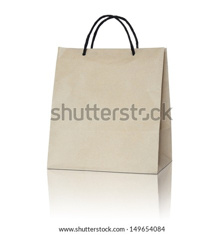 Brown paper bag - stock photo