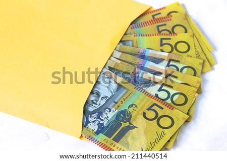 Brown Paper Bag Money - stock photo
