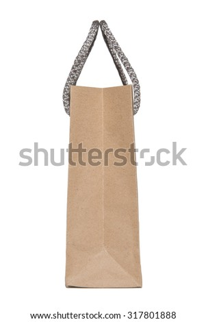 Brown paper bag on the side - stock photo