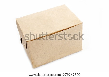 Brown Paper Box - stock photo