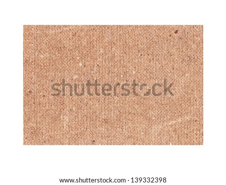 Brown paper card board isolated on white background