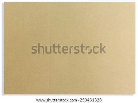 Brown paper card board isolated , paper background. paper texture