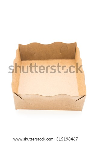 Brown Paper dish isolated on white background