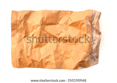 Brown paper on white.