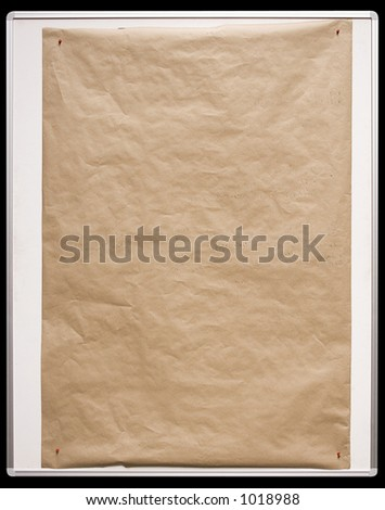 Brown Paper On White Board w/ Path