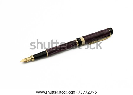 brown pen isolated
