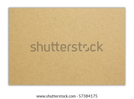 Brown plain simple paper - stock photo
