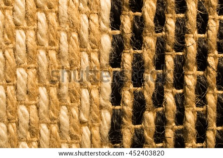 Brown rattan weave for closeup textured background - stock photo