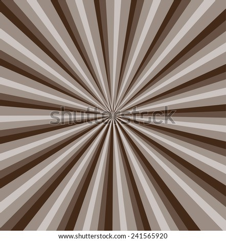 Brown rays background  - stock photo