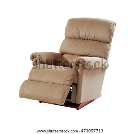 Brown reclining chair isolated on white background with clipping path.  sc 1 st  Shutterstock & Recliner Chair Stock Images Royalty-Free Images u0026 Vectors ... islam-shia.org