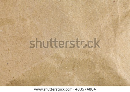Brown recycle crumpled paper background, Brown paper textures for backgrounds.