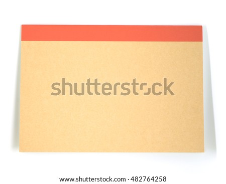 Brown recycle writing office book on white background