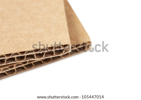 Brown recycled carton - stock photo