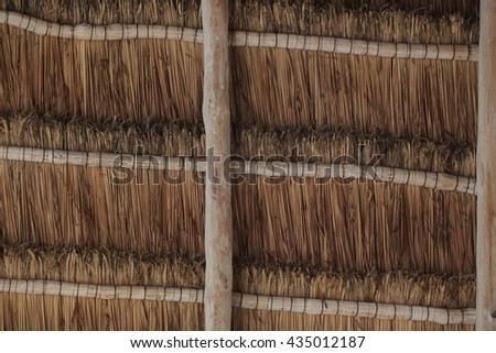 Brown Reed Roofing Texture Macro