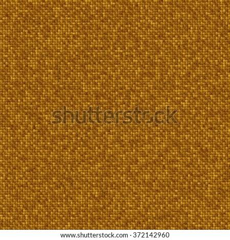 Brown rough textile canvas, seamless fabric texture - stock photo