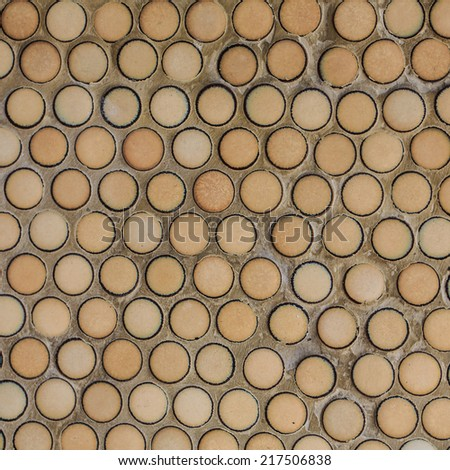 Brown seamless ceramic tiles, abstract texture - stock photo
