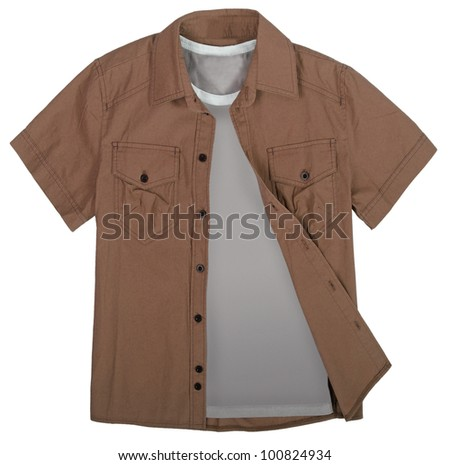 brown shirt - stock photo