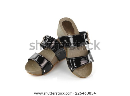 Brown Shoe isolated on white background