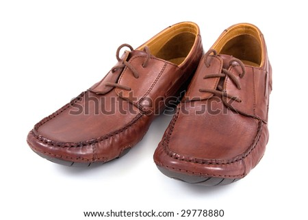 brown shoes isolated on white