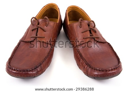 brown shoes on isolated