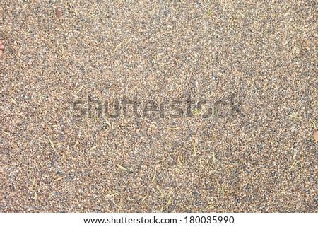 brown small granite stone floor background - stock photo