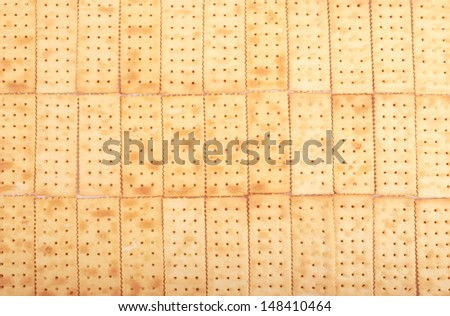 Brown Soda Crackers  ,food background .