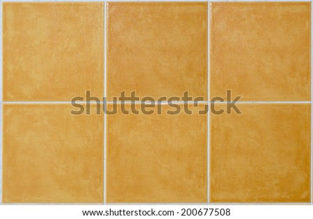 brown square Tile glossy mosaic Earthenware material in bathroom background - stock photo