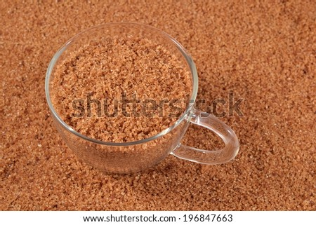 Brown sugar in a cup