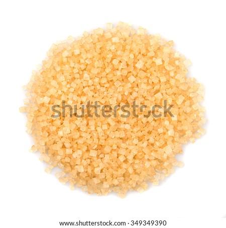 Brown sugar over white background - stock photo