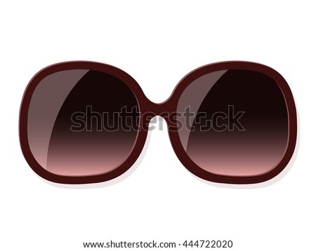 Brown sunglasses over white background - stock photo