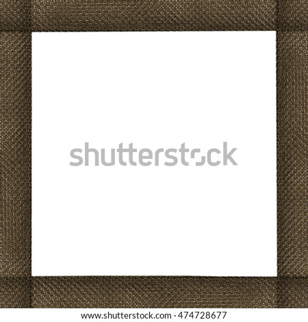 brown synthetic material square frame