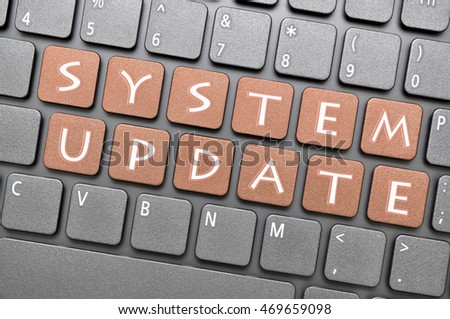 Brown system update key on keyboard