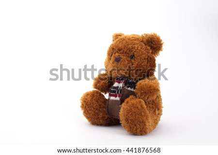 brown teddy bear isolated