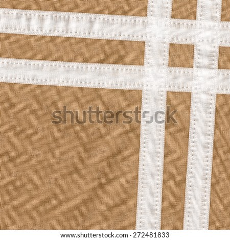 brown textile texture,white ribbons