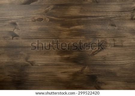 brown texture of old wood with knots - stock photo