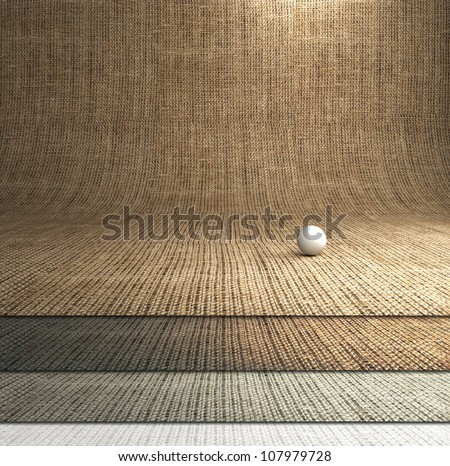 Brown texture sack sacking country background. - stock photo
