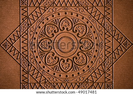 Brown textured background - stock photo