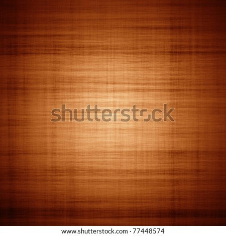 Brown textured background with fibers and vignette - stock photo