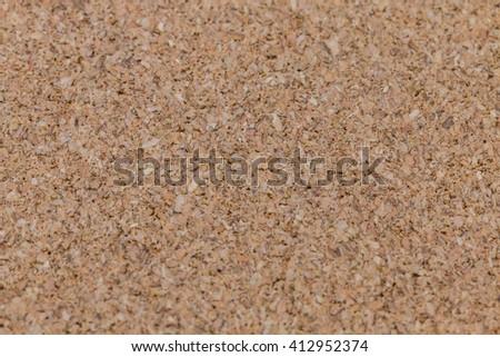 Brown textured cork board - stock photo