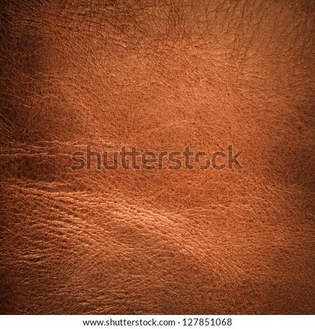 Brown textured  leather background - stock photo