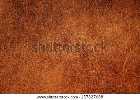 Brown textured leather background. - stock photo