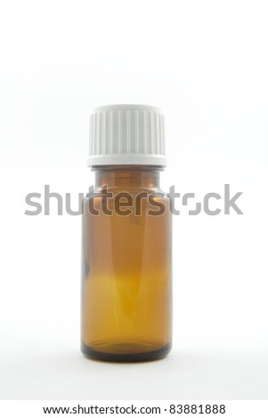 brown tincture with a dropper for medical drops or essential oil