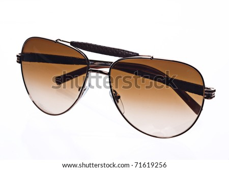 brown tinted sunglasses - stock photo