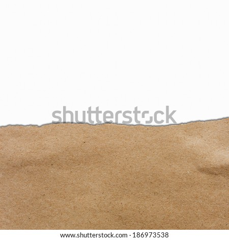 brown torn paper with copyspace for your text - stock photo