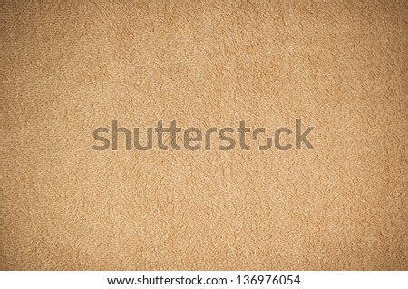Brown Towel Background - stock photo