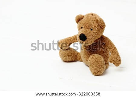 Brown toy bear - stock photo